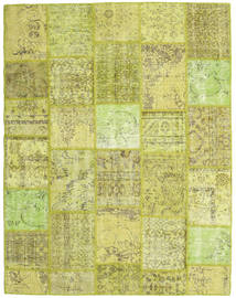 Patchwork Rug 197X255 Authentic  Modern Handknotted Yellow/Light Green/Olive Green (Wool, Turkey)