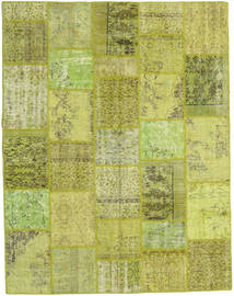 Patchwork Rug 200X257 Authentic  Modern Handknotted Light Green/Olive Green (Wool, Turkey)