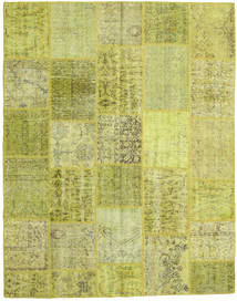 Patchwork Rug 199X252 Authentic  Modern Handknotted Yellow/Olive Green/Light Green (Wool, Turkey)