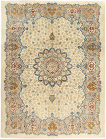 Keshan Rug 293X388 Authentic  Oriental Handknotted Dark Beige/Beige Large (Wool, Persia/Iran)