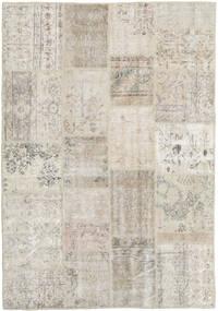 Patchwork Rug 138X201 Authentic  Modern Handknotted Light Grey/Dark Beige (Wool, Turkey)