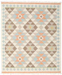 Summer Kilim Rug 240X300 Authentic  Modern Handwoven Beige/Light Grey (Wool, India)