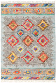Spring Kilim Rug 160X230 Authentic  Modern Handwoven Light Grey/Beige (Wool, India)