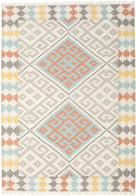 Summer Kilim Rug 240X340 Authentic  Modern Handwoven Beige/Light Grey (Wool, India)
