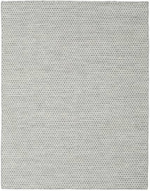 Kilim Honey Comb - Grey Rug 190X240 Authentic  Modern Handwoven Light Grey/Turquoise Blue (Wool, India)