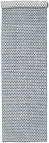 Kilim Honey Comb - Blue Rug 80X340 Authentic  Modern Handwoven Hallway Runner  Light Grey/Light Blue (Wool, India)