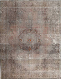 Colored Vintage Rug 299X382 Authentic  Modern Handknotted Light Grey/Dark Brown Large (Wool, Pakistan)