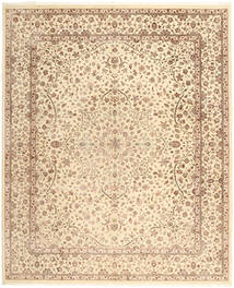 Tabriz Royal Rug 248X358 Authentic  Oriental Handknotted Beige/Light Brown ( India)