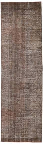 Colored Vintage Rug 81X276 Authentic  Modern Handknotted Hallway Runner  Brown/Light Brown (Wool, Turkey)