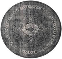 Jacinda - Anthracite Rug Ø 200 Modern Round Dark Grey/Black ( Turkey)