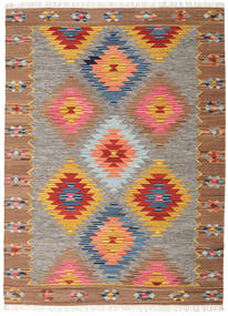 Spring Kilim Rug 240X340 Authentic  Modern Handwoven Light Grey/Brown (Wool, India)
