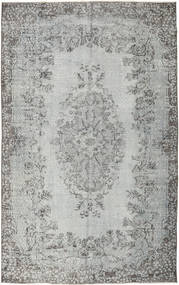 Colored Vintage Rug 167X267 Authentic  Modern Handknotted Light Grey/Dark Grey/Turquoise Blue (Wool, Turkey)