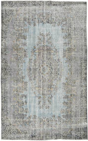 Colored Vintage Rug 186X300 Authentic  Modern Handknotted Dark Grey/Light Grey (Wool, Turkey)