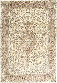 Keshan Rug 243X350 Authentic  Oriental Handknotted Beige/Light Grey (Wool, Persia/Iran)