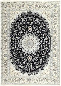 Nain 6La Rug 250X340 Authentic  Oriental Handknotted Light Grey/Beige Large (Wool/Silk, Persia/Iran)