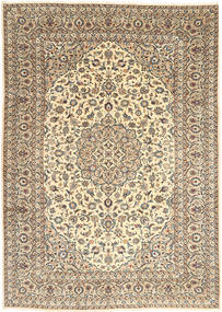 Keshan Rug 250X352 Authentic  Oriental Handknotted Beige/Dark Beige Large (Wool, Persia/Iran)