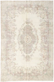Colored Vintage Rug 199X303 Authentic  Modern Handknotted Light Grey/Beige (Wool, Turkey)