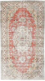 Colored Vintage Rug 186X338 Authentic  Modern Handknotted Light Grey/Light Pink (Wool, Turkey)