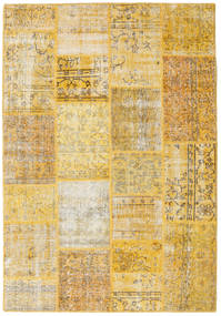 Patchwork Rug 158X230 Authentic  Modern Handknotted Yellow/Light Brown (Wool, Turkey)