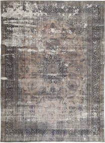 Colored Vintage Rug 282X386 Authentic  Modern Handknotted Light Grey/Dark Brown Large (Wool, Persia/Iran)