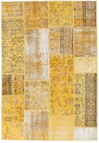 Patchwork Rug 158X230 Authentic  Modern Handknotted Yellow/Beige (Wool, Turkey)
