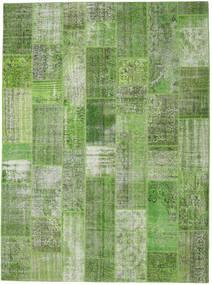 Patchwork Rug 273X371 Authentic  Modern Handknotted Dark Green/Pastel Green/Dark Grey/Light Green Large (Wool, Turkey)