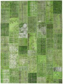 Patchwork Rug 273X369 Authentic  Modern Handknotted Dark Green/Light Green Large (Wool, Turkey)