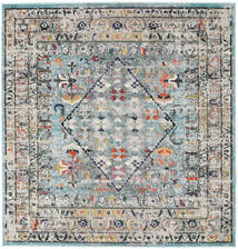 Chillon - Light Blue/Multi Rug 200X200 Modern Square Light Grey/Dark Green ( Turkey)