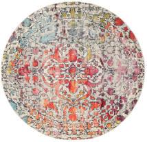 Kaleidoscope - Multi Rug Ø 200 Modern Round Light Grey/Dark Brown ( Turkey)