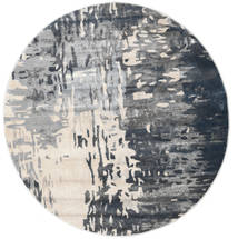 Kaskad - Grey/Cream Rug Ø 150 Modern Round Dark Grey/Light Grey ( Turkey)