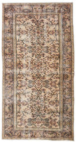 Colored Vintage Rug 104X201 Authentic  Modern Handknotted Dark Brown/Light Grey (Wool, Turkey)
