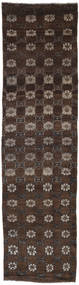 Colored Vintage Rug 74X271 Authentic  Modern Handknotted Hallway Runner  Dark Brown (Wool, Turkey)