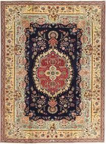 Tabriz Patina Rug 216X295 Authentic  Oriental Handknotted Dark Beige/Brown (Wool, Persia/Iran)