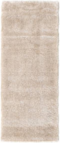Shaggy Sadeh - Light Beige Rug 80X200 Modern Hallway Runner  Light Grey/White/Creme ( Turkey)