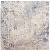 Ritz - Light Grey/Beige Rug 250X250 Modern Square Light Grey Large ( Turkey)