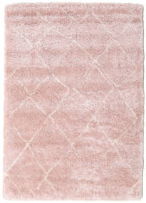 Shaggy Agadir - Soft Rose/Off-White Rug 160X230 Modern Light Pink/Light Purple ( Turkey)