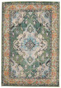 Leia - Green Rug 120X170 Modern Light Grey/Dark Green ( Turkey)