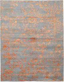 Orient Express - Grey/Orange Rug 240X300 Authentic Modern Handknotted Light Grey (Wool/Bamboo Silk, India)