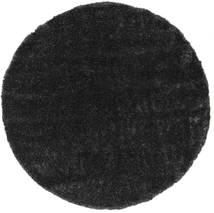 Lotus - Dark Grey Rug Ø 200 Modern Round Black ( Turkey)