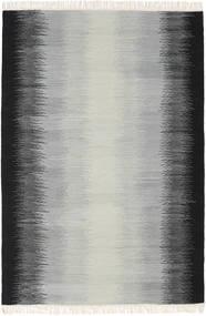 Ikat - Black/Grey Rug 140X200 Authentic  Modern Handwoven Light Grey/Black (Wool, India)