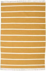 Dhurrie Stripe - Mustard Yellow Rug 140X200 Authentic  Modern Handwoven Orange/Light Brown (Wool, India)