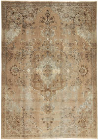 Colored Vintage Rug 187X270 Authentic  Modern Handknotted Light Brown/Light Grey (Wool, Persia/Iran)
