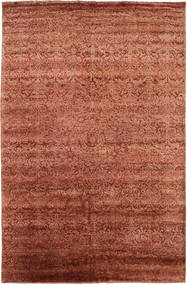 Damask Rug 193X300 Authentic  Modern Handknotted Crimson Red/Dark Red ( India)