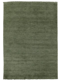 Handloom Fringes - Forest Green Rug 160X230 Modern Dark Green/Dark Green (Wool, India)