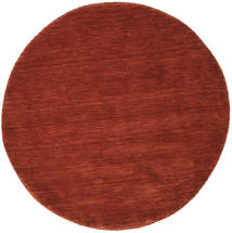 Handloom - Deep Rust Rug Ø 150 Modern Round Dark Red/Crimson Red (Wool, India)