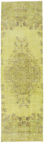 Colored Vintage Rug 81X270 Authentic  Modern Handknotted Hallway Runner  Yellow/Olive Green (Wool, Turkey)