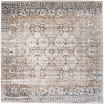 Pasha - Beige/Grey Rug 250X250 Modern Square Light Grey/White/Creme Large ( Turkey)