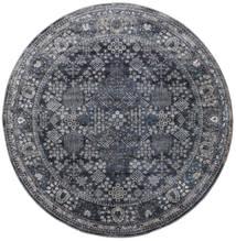 Monza - Dark Grey Rug Ø 200 Modern Round Dark Grey/Black ( Turkey)