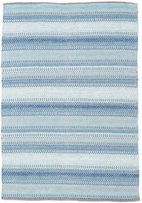 Wilma - Blue Rug 120X180 Authentic  Modern Handwoven Light Blue/Beige (Cotton, India)