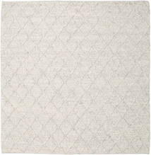 Rut - Ice Grey Melange Rug 250X250 Authentic  Modern Handwoven Square Light Grey/Beige Large (Wool, India)